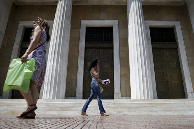 La Grèce doit rembourser quelque 1,5 milliard d'euros... (PHOTO MARKO DJURICA, REUTERS)