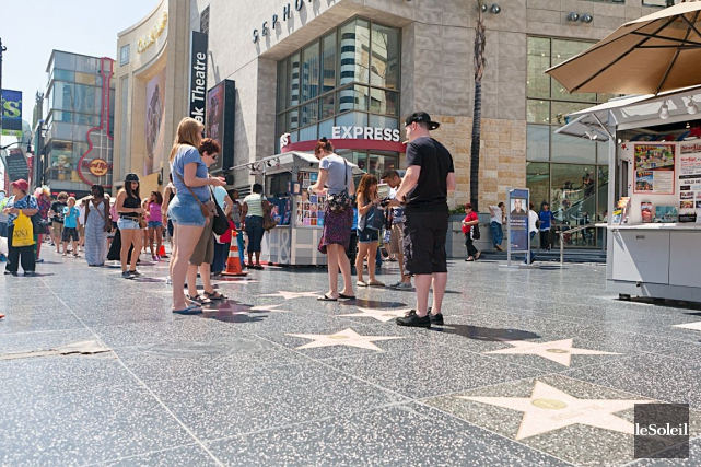 Le Walk of Fame sur le Hollywood Boulevard... (PHOTO ARCHIVES LE SOLEIL)