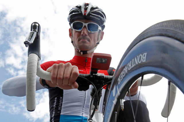Frank Schleck... (Photo Christian Hartmann, archives Reuters)