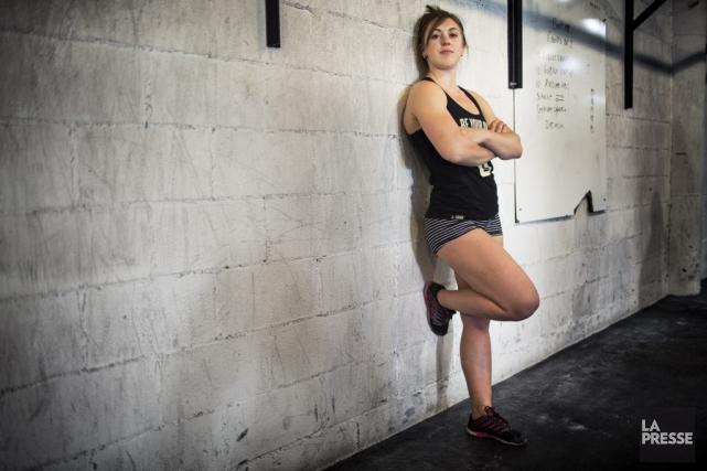 Alexandra Bergeron, qui pratique le CrossFit depuis 2008,... (PHOTO OLIVIER PONTBRIAND, LA PRESSE)