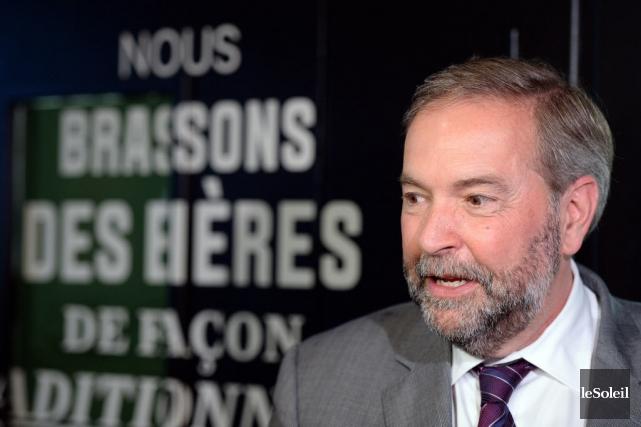 Thomas Mulcair s'est dit convaincu que les Québécois... (Photo Erick Labbe, Le Soleil)