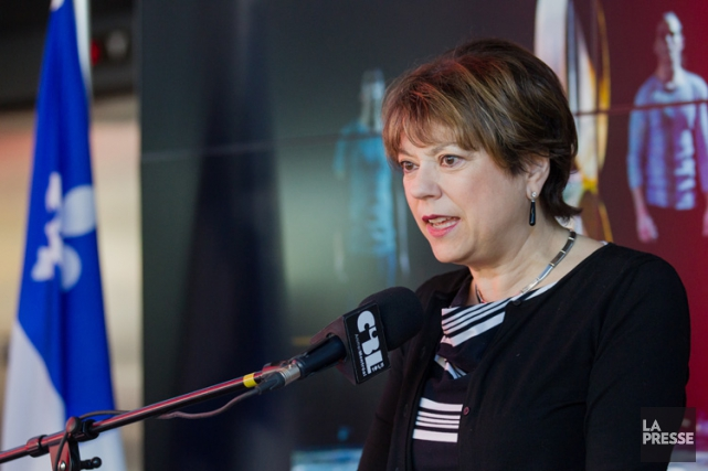 La ministre de la Culture et des Communications Hélène David.... (PHOTO ÉDOUARD PLANTE-FRÉCHETTE, LA PRESSE)