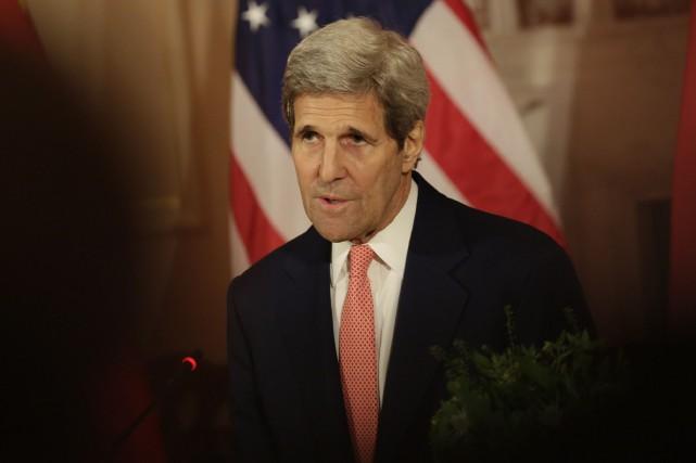 Le secrétaire d'État des États-Unis, John Kerry.... (Photo Chris Kleponis, AFP)
