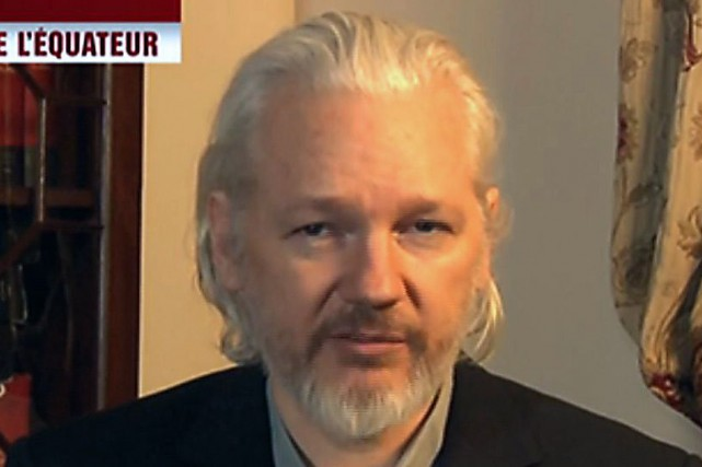 Le fondateur de WikiLeaks, Julian Assange... (PHOTO CAPTURE D'ÉCRAN AFP)
