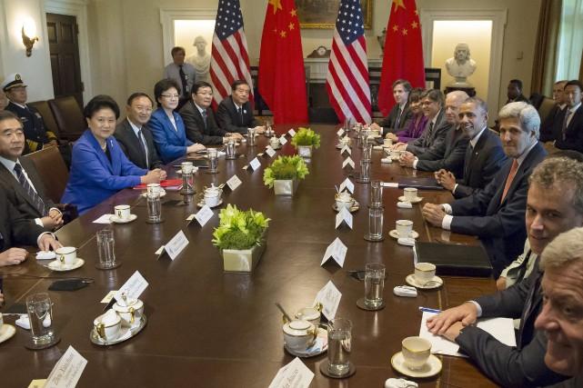 La partie chinoise a été reçue mercredi par... (Photo Jonathan Ernst, Reuters)