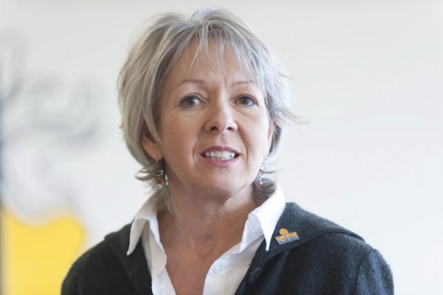 Andrée Bouchard, présidente de la commission scolaire des... (photo LaMétropole.com)