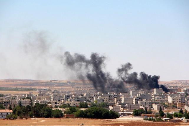 Les trois attentats ayant frappé Kobané ont été... (PHOTO AFP/STRINGER)