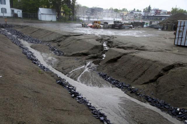 L'érosion des sols dans la zone de la... (Photo fournie)