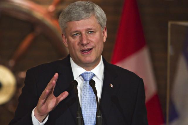Le premier ministre Stephen Harper...