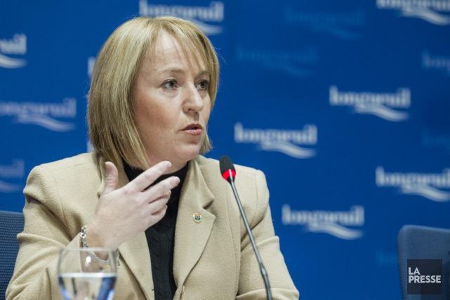 La mairesse de Longueuil Caroline St-Hilaireaffirme être victime... (PHOTO ÉDOUARD PLANTE-FRÉCHETTE, ARCHIVES LA PRESSE)