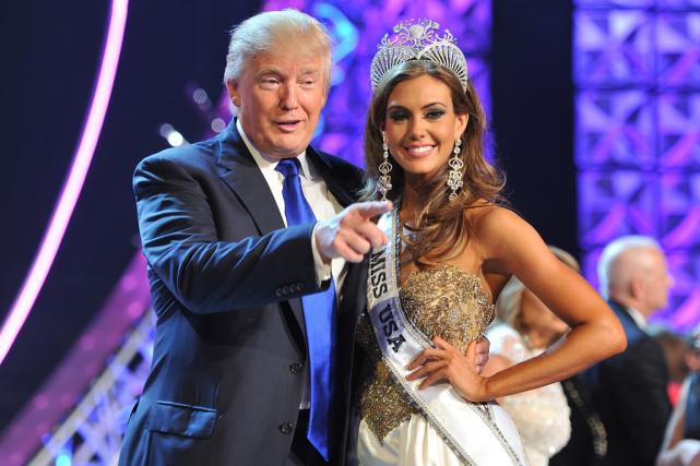Donald Trump estl'un des propriétaires de l'organisation Miss... (Photo Jeff Bottari, archives AP)