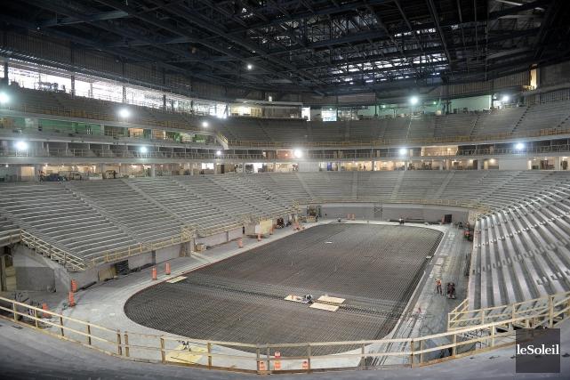 Le nouvel amphitheatre de Quebec est en construction.... (Archives Le Soleil)