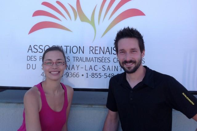 Kim Laliberté et Jonathan Galarneau, éducateurs spécialisés responsables... ((Courtoisie))