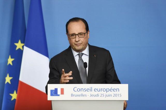 Le président français François Hollande... (PHOTO ALAIN JOCARD, AFP)