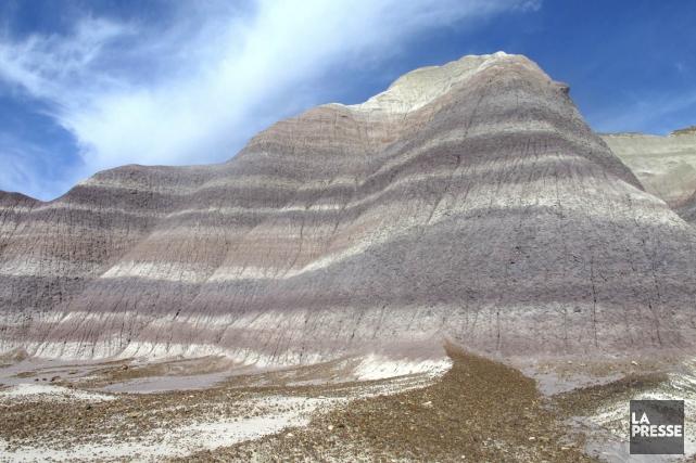Les strates de Blue Mesa, au coeur du... (Photo Simon Chabot-Blain, La Presse)