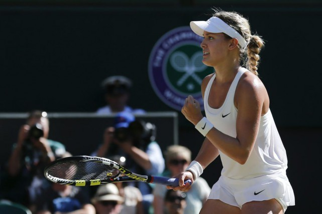 Eugenie Bouchard a atteint la finale de Wimbledon... (PHOTO BEN CURTIS, ARCHIVES AP)