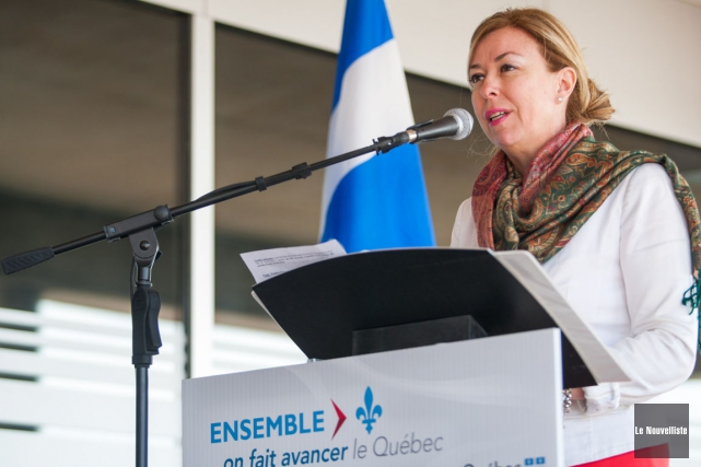 La ministre du Tourisme du Québec,Dominique Vien... (Photo: Olivier Croteau, Le Nouvelliste)
