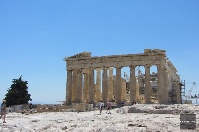 Le Parthénon en toile de fond était bien... (La Tribune, Jonathan Custeau)