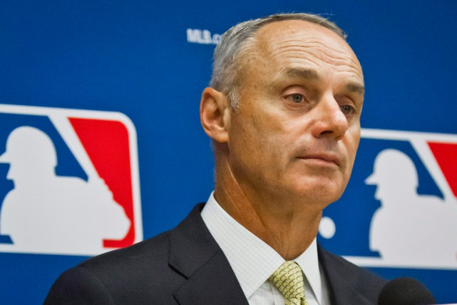 Rob Manfred... (PHOTO BEBETO MATTHEWS, ARCHIVES AP)