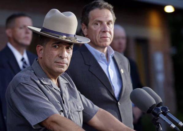 Le chef de la police de l'Etat de... (Photo AP, Mary Altaffer)