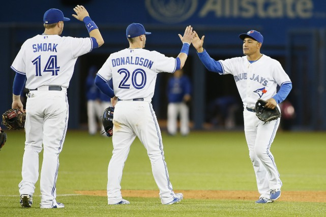 Les Blue Jays (40-35) ont gagné neuf de... (Photo John E. Sokolowski, USA Today)