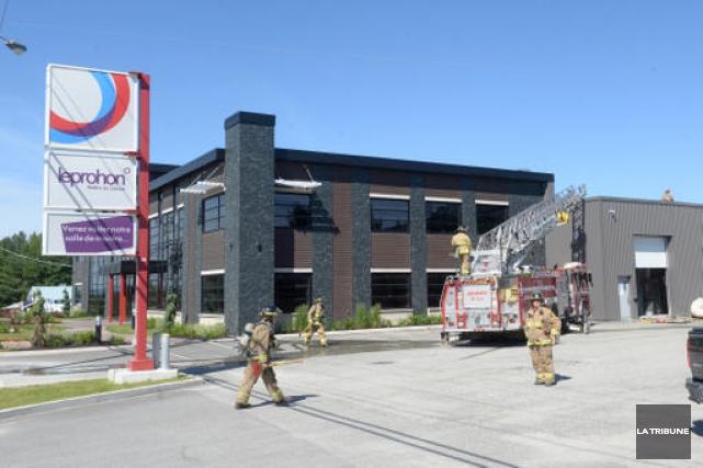 Un incendie est survenu dans l'édifice de la... (Imacom, Maxime Picard)
