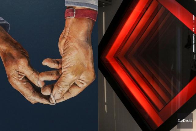Des mains jointes - ridées, manucurées, ouvertes en offrande ou recueillies -... (Photomontage LeDroit)