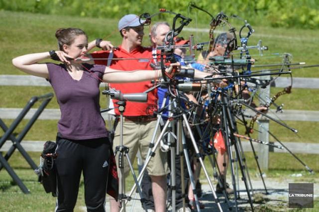 Une cinquantaine des meilleurs archers du Québec sont... (Imacom, Maxime Picard)