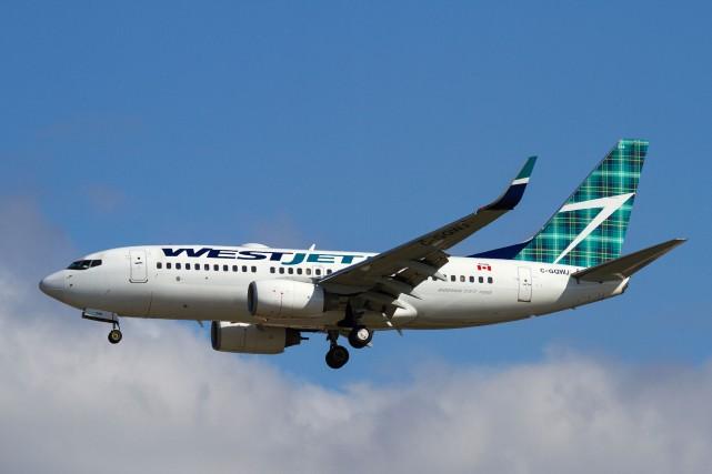 WestJet a annoncé lundi qu'elle ajouterait des dizaines de nouveaux vols à ses... (PHOTO FOURNIE PAR WESTJET)