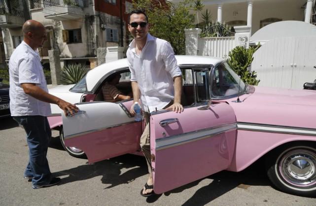 Le cofondateur d'Airbnb Nathan Blecharczyk était à La... (Photo AP, Desmond Boylan)