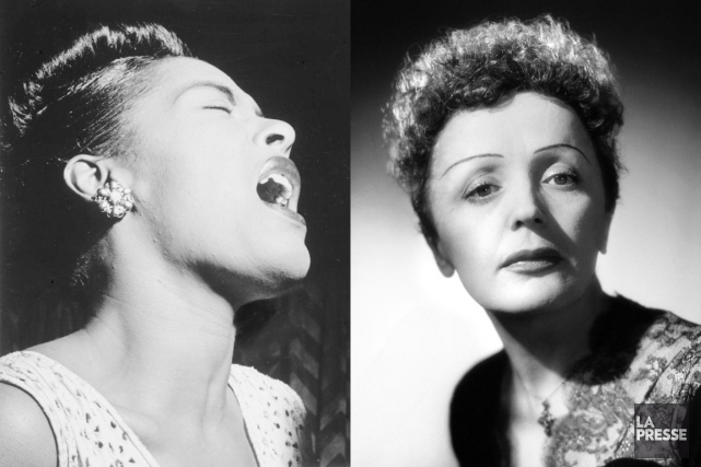 Billie Holiday et Édith Piaf... (PHOTOMONTAGE LA PRESSE)