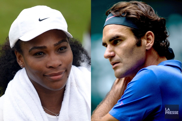 Serena Williams et Roger Federer... (PHOTOMONTAGE LA PRESSE)