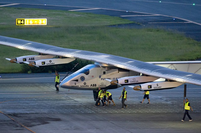 Solar Impulse 2 avait dû interrompre son vol... (PHOTO REUTERS)