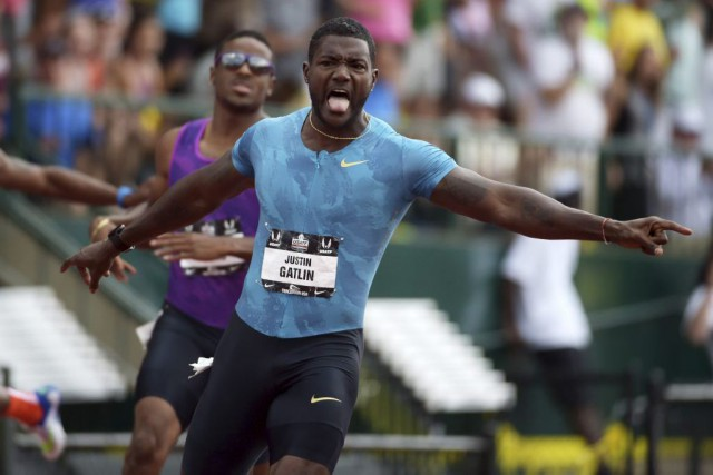 Justin Gatlin... (Photo Kirby Lee, USA TODAY Sports)