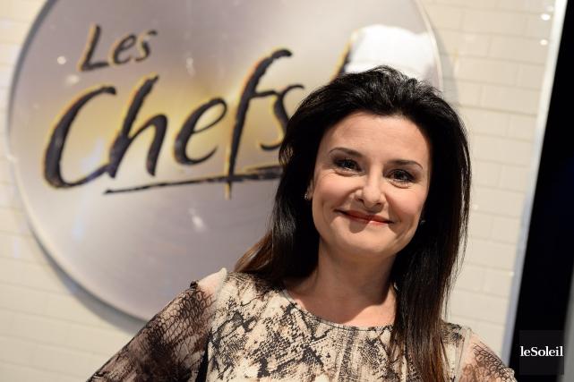 Chantal Fontaine sur le plateau des Chefs!... (Le Soleil, Erick Labbé)