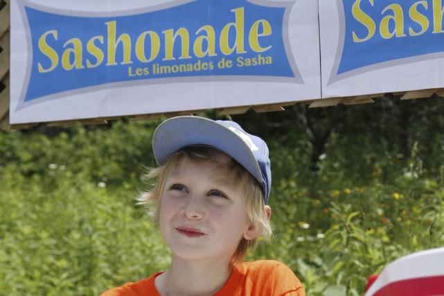 Sasha Delorme-Beaumier, 6 ans, a fait et vendu... (photo Julie Catudal)