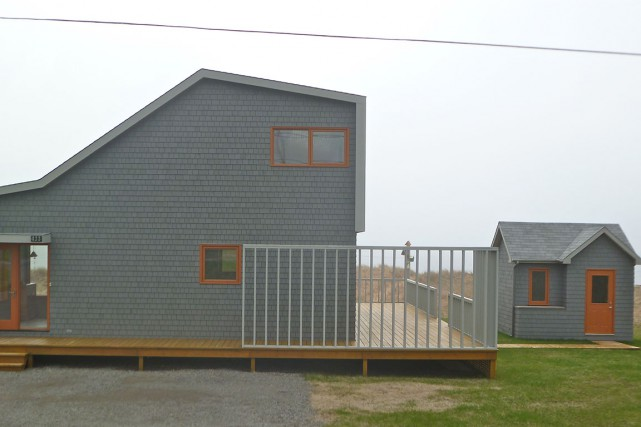La maison, telle qu'elle nous apparaît vue du... (Photo Michèle Laferrière)