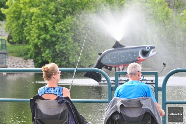 Les pêcheurs ont été nombreux lors de la... (Photo: Émilie O'Connor, Le Nouvelliste)