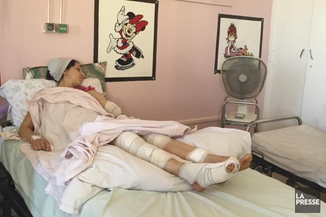 Imen Guiga a échappé à la mort après... (PHOTO MARIE-CLAUDE LORTIE, LA PRESSE)