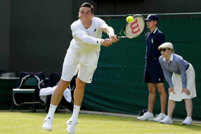 Milos Raonic a réussi 25 as à son... (Photo Henry Browne, Reuters)