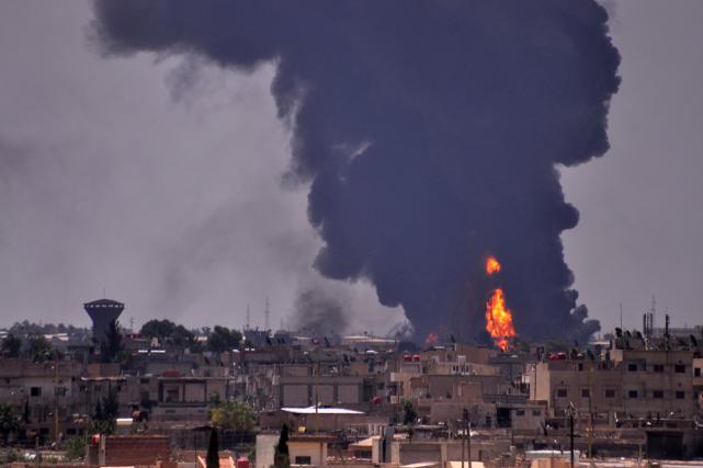 Hassaké est partagée entre les forces du régime... (PHOTO AFP)