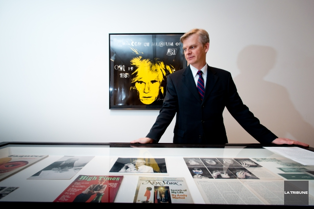 Paul Maréchal a élaboré l'exposition Andy Warhol, graphiste... (Photo archives, La Tribune)
