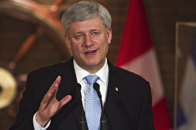 Le premier ministre du Canada, Stephen Harper.... (Photo Photo Clement Allard, PC)