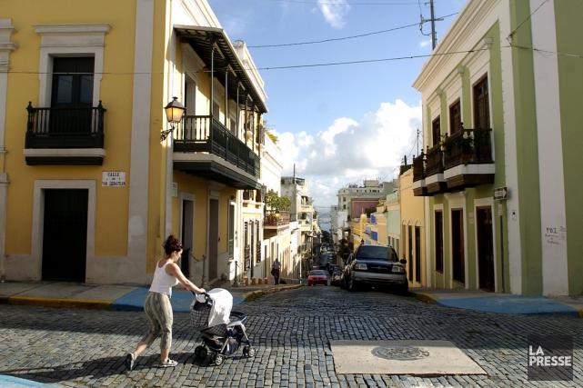 Une rue historique du vieux San Juan àPorto... (Photo Bernard Brault, archives La Presse)