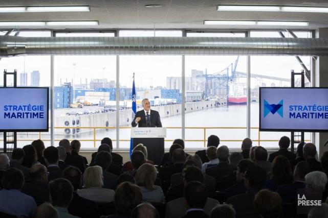La nouvelle Stratégie maritime a été rendue publique... (PHOTO OLIVIER PONTBRIAND, LA PRESSE)