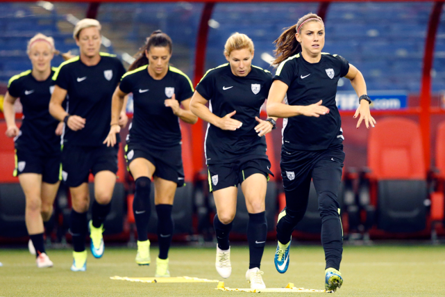 Les Américaines, Alex Morgan en tête, ont complété... (Photo Michael Chow, USA Today)