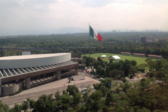 L'auditorium de Mexico vu depuis l'hôtel Intercontinental. L'endroit... (Collaboration spéciale, Normand Provencher)
