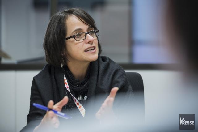 La vice-présidente de la CSN responsable de la... (PHOTO EDOUARD PLANTE-FRÉCHETTE, ARCHIVES LA PRESSE)