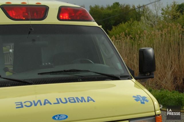 Une conductrice a été grièvement blessée, mardi avant-midi alors qu'elle... (Archives La Presse)