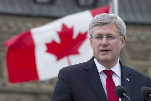 Le premier ministre du Canada, Stephen Harper... (PHOTO ARCHIVES LA PRESSE CANADIENNE)